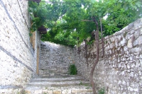Street in the castle of Berat
