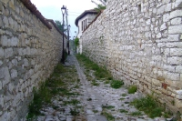 Street in the castle of Berat, Albania