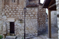 Traditional living house in the castle of Berat