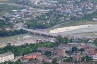 Bridge over river. Berat city, Albania