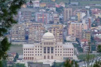 View of Albanian University from Berat Castle