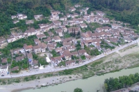 View of Berat from Berat Castle