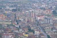 View of Berat city from Berat Castle, Albania