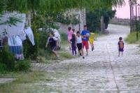 Children in Berat Castle