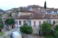 Traditional living houses in Berat Castle, Albania