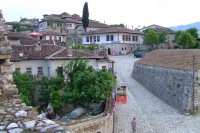 Traditional living houses in Berat Castle