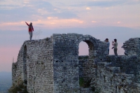 Tourists on Berat Castle, Albania