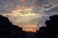 Sunset in Berat Castle
