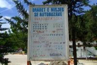Bus timetable in Berat city, Albania