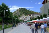 Pedestrian street in Berat city