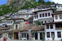 Traditional living houses in Berat city