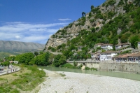 The river Osum in Berat city
