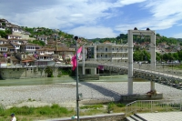 Bridge over Osum river in Berat city, Albania