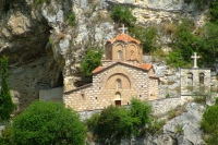 Church before the rock. Berat city, Albania
