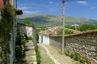 Street in Berat city, Albania