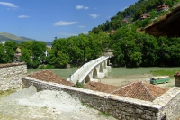 The bridge over Osum river in Berat city