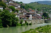 Osum river in Berat, Albania