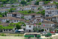 Living houses. Berat city, Albania