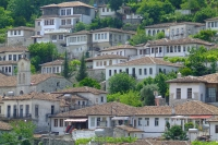 Traditional living houses in Berat city, Albania
