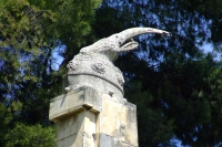 Skanderbeg's helmet. Berat city, Albania