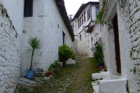 Street of Berat city, Albania