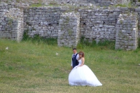 Newlyweds in Berat castle, Albania