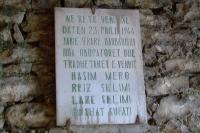 The sign on the street of Gjirokaster