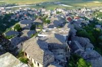 Roofs of houses in Gjirokastër