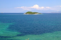 Ksamil islands in Ionian Sea