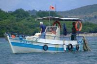 Boat Korale. Ksamil, Albania
