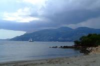 Over channel is Corfu island
