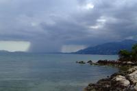 Rain over the Corfu island