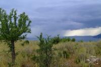 Rain over the Corfu channel