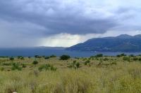 Corfu channel between Albania and Greece