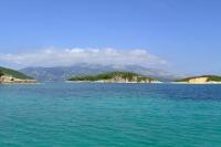 Ksamil Islands and Corfu island