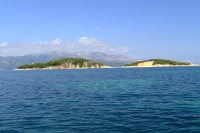 Ksamil Islands (Albania) and Corfu island (Greece)