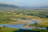 Drin river near Shkodër city