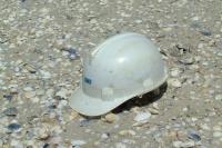Helmet on the sand